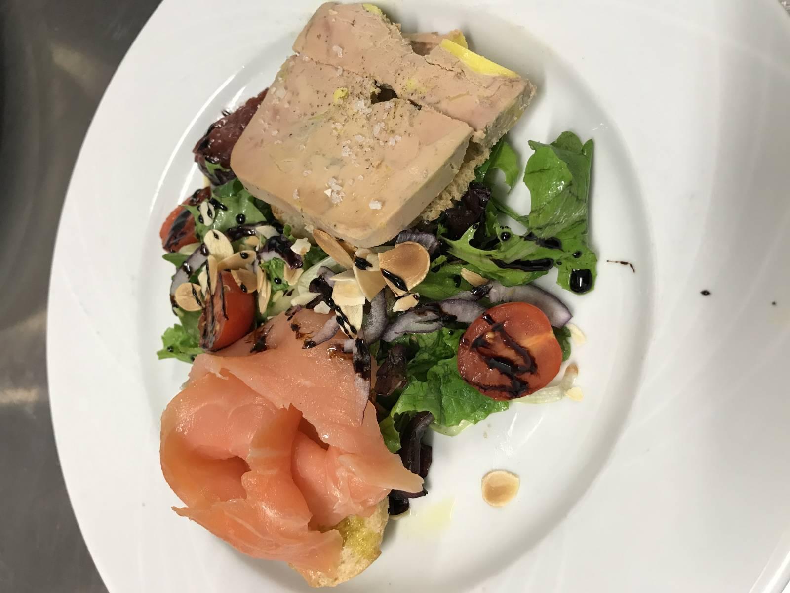 duo saumon foie gras